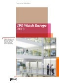 Etude PwC IPO Watch 2013-2014 (mars 2014)