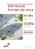 "Etude PwC ""IPO Watch Europe"" Q3 2014 (oct. 2014)"