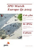 Etude PwC IPO Watch Europe Q1 2015 (avril 2015)