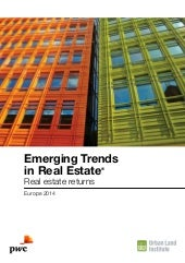 Etude PwC/ULI Emerging Trends in Re...