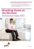 Etude PwC Breaking Dawn on the Horizon - Destination India (2013)