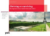 Pwc European Cities Hotel Forecast2013