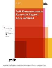 PwC / IAB Programmatic revenue report 2014 results