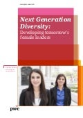 Next Generation  Diversity: Developing tomorrow's female leaders