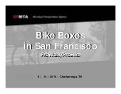 Session 6 - Bike Boxes in San Franc...