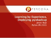 Learning by Experience, Devploying pyxbackup