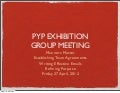PYP Exhibition Group Meeting 1
