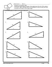 Worksheets Pythagorean Triples Worksheet pythagorean worksheet 1