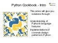 Danny Adair - Python Cookbook - Intro