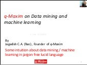 Data mining and Machine learning ex...