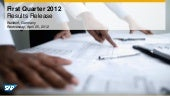 SAP First Quarter 2012 Results Rele...