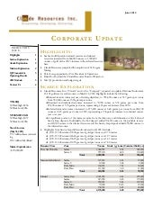 Claude Resources Inc. Corporate Update
