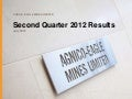 Q2 2012 results presentation conf call