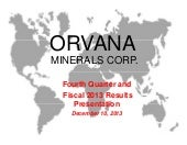 Orvana Minerals Corp. video