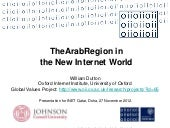 The Arab Region in the New Internet...
