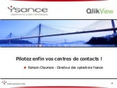Qlik view centre de contact