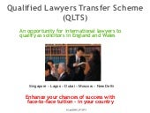 QLTS Qualified Lawyers Transfer Scheme