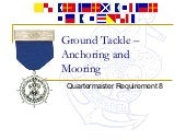 ground tackle (anchoring and mooring)