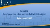 M-Agile - Best practices for successful Mobile Agile - Roy Nuriel PerfectoMobile