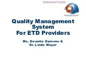 Quality Management System (QMS) for...
