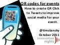 QR codes for events