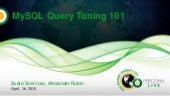 MySQL Query tuning 101
