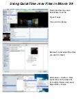 QuickTime MOV Files in iMovie 09