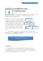 Qtr 1 module 4 elements & compounds
