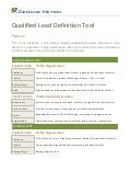 Qualified Lead Definition Tool
