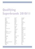 Top 300 superbrands in Romania