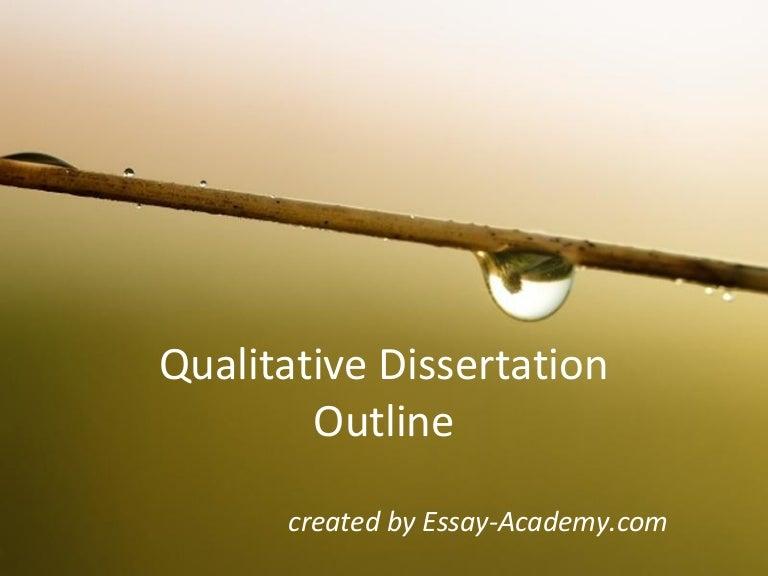 A qualitative dissertation