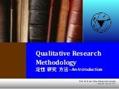 Qualitative Research Method - an In...