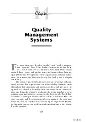 Quality management-systems