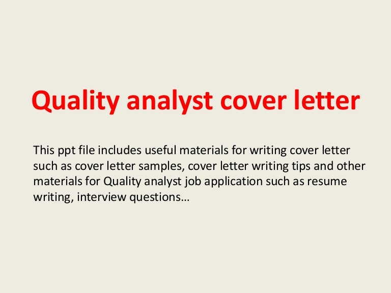 quality cover letters