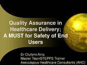 Quality assurance in healthcare del...