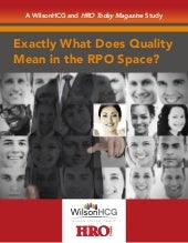 Exactly What Does Quality Mean in the RPO Space?