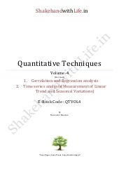 Quantitative Techniques Part IV