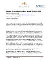 Quarterly Insurance Round Up 2q08