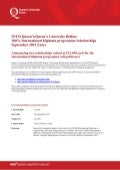 Queen's University Belfast - Diploma 100% Scholarship 2 - 2012 - 2013