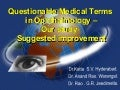 Questionable Medical Terms In Ophthalmology