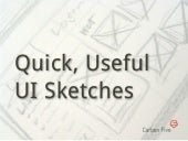 Quick, Useful UI Sketches