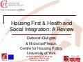 Housing First and Social Integration