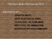 Quit india movement,1942