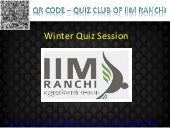 Quiz session by IIM Ranchi Quiz Club