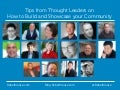 Tips from the Top Thought Leaders in Blogging: How to Build and Showcase Your Community