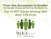 Top 10 HST Issues Working with other CPA Firms