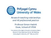 Research-teaching relationships and...