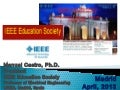 IEEE Education Society presentation at the IEEE Region 8 Chapter Coordinator Meeting chapters,