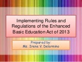 Ra 10533 The Enhance Basic Educatio...