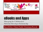TOC Bologna 2012: eBooks and Apps: ...